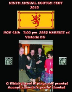 9th Annual Scotch Fest Poster (2010)