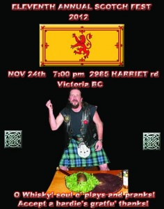 11th Annual Scotch Fest Poster (2012)