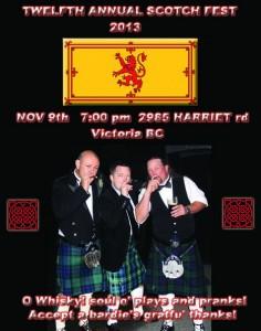 12th Annual Scotch Fest Poster (2013)